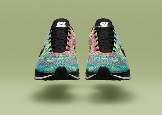 NIKE HTM FLYKNIT TRAINER+ The new multi-colored HTM Trainer+ is the latest  installment of the HTM collection, the ongoing collaboration between  Fragment ...
