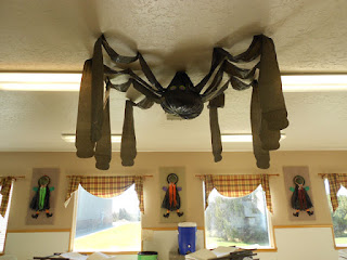 Spider Halloween decoration at Cedar Ridge Academy Therapeutic Boarding School