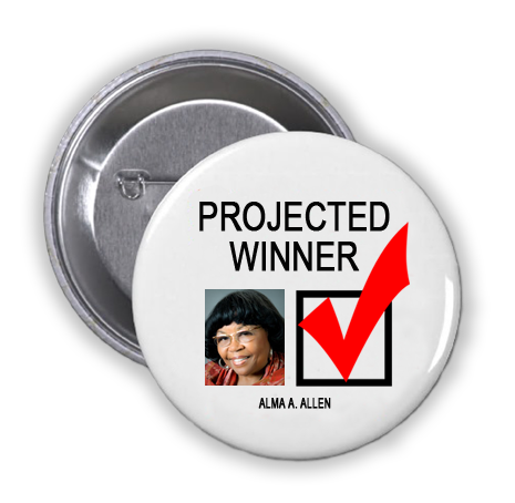ALMA A. ALLEN IS A PROJECTED WINNER IN THE TUESDAY, NOVEMBER 8, 2016 PRESIDENTIAL ELECTION