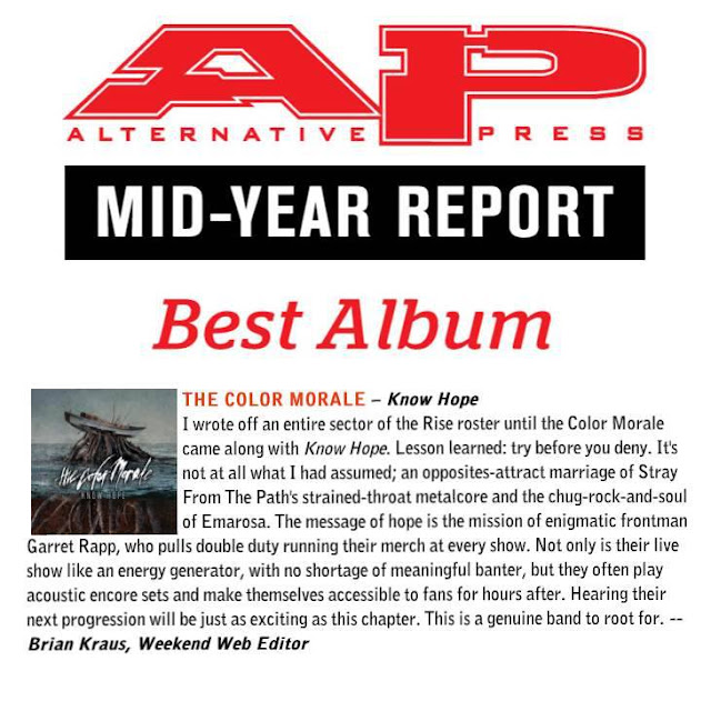 The color Morale Alternative Press mid Year Report