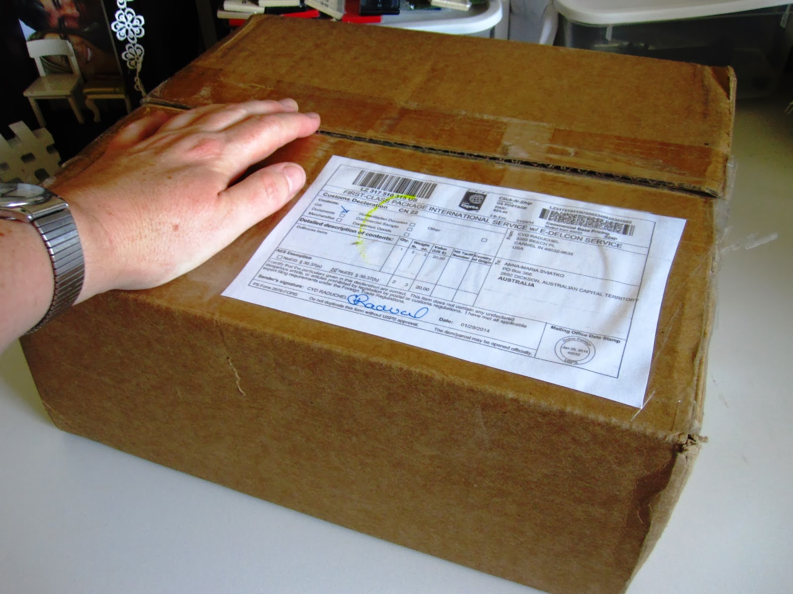 Modern miniature swap parcel