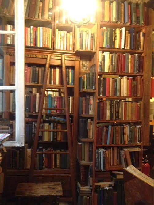 Reading room at Shakespeare and Company
