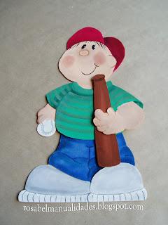 Muñecos realizados con Goma Eva, Foami