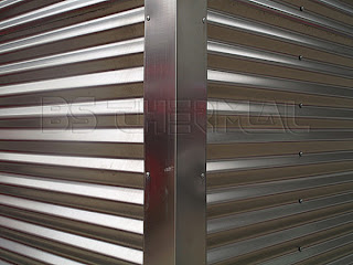 Corrugated stainless steel sheets