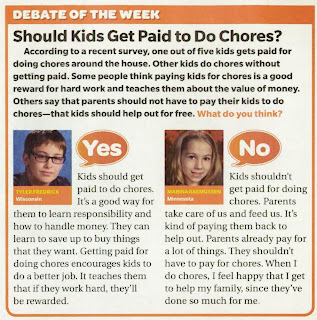 Chores to get Money