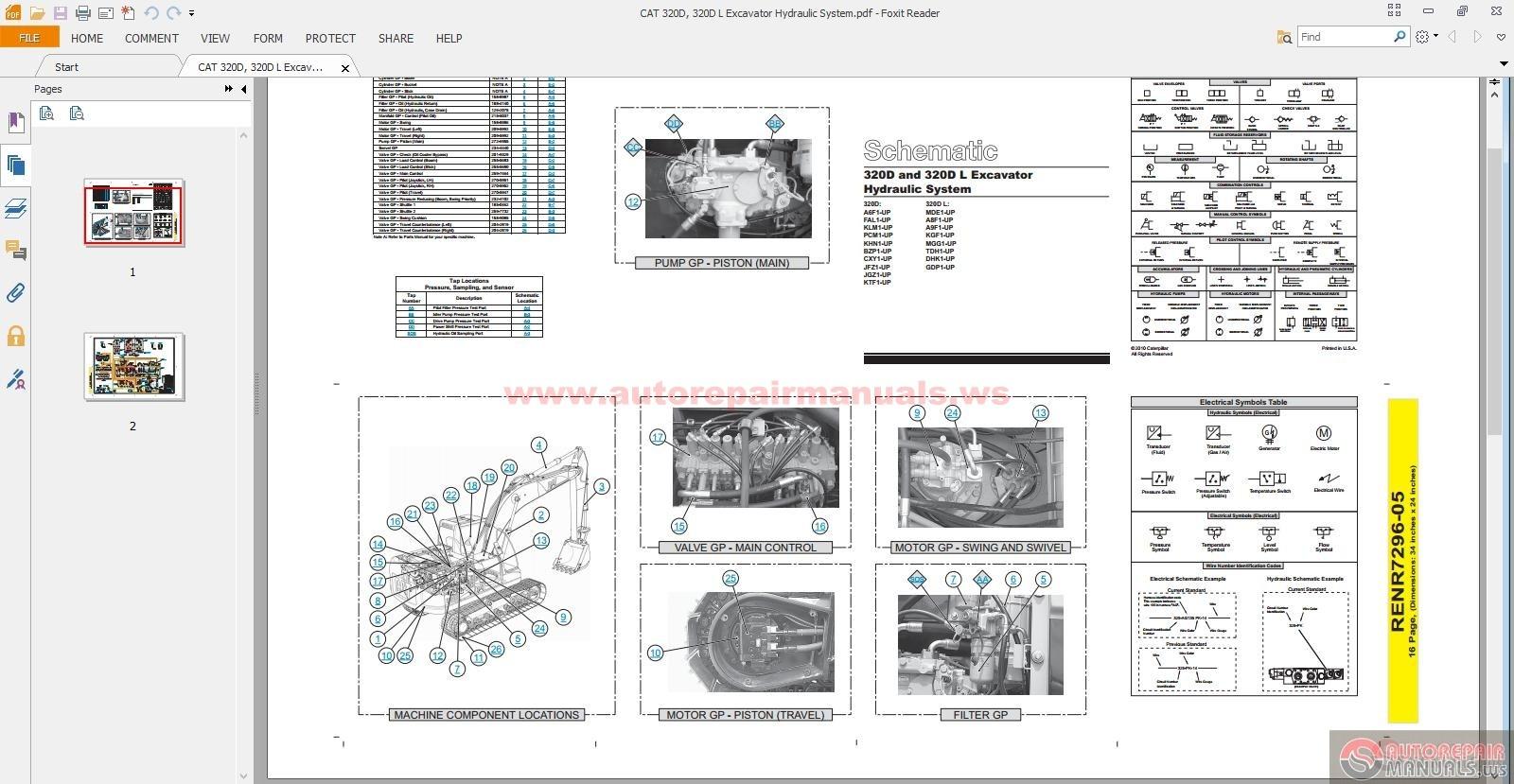 auto repair manuals cat 320d 320d l excavator hydraulic system rh autorepairmanuls blogspot com Long Reach Excavator Cat 320 Cat 320 Excavator Lifting Capacity