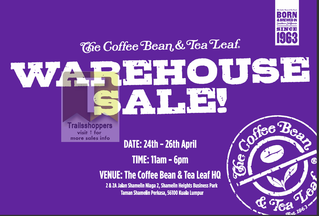 coffee bean tea leaf warehouse sale malaysia