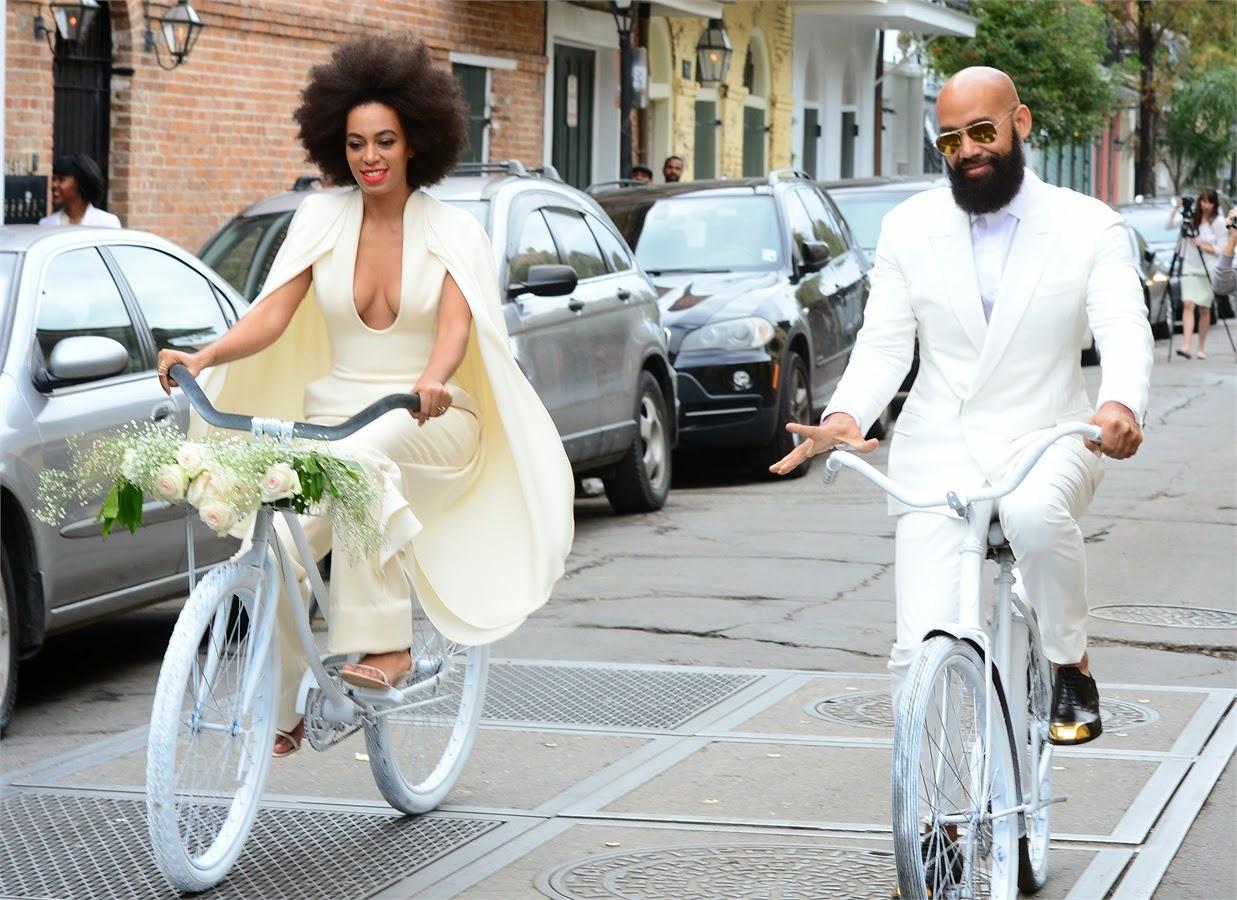 abiti da sposa vip, abito sposa solange knowles, abiti sposa stephane rolland, tute da sposa