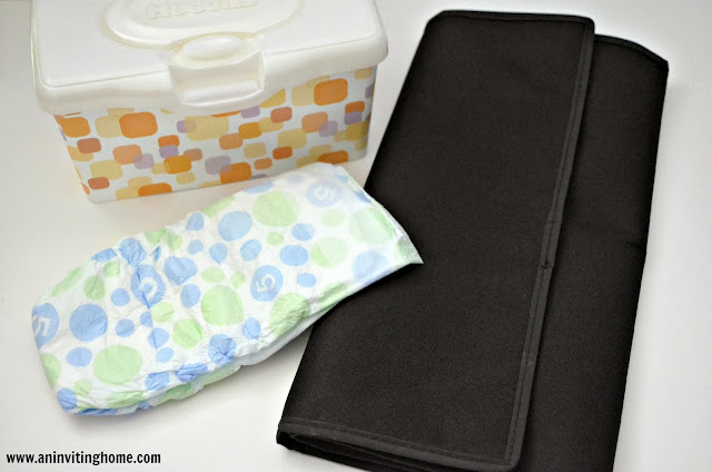 changing diapers on the go