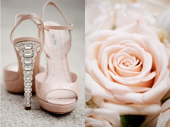 These Shoes Are So Elegant Perfect For A Soft Pink Wedding