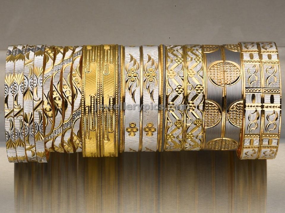 7 Rhodium coat gold bangle designs by Bhima jewellers - Latest ...