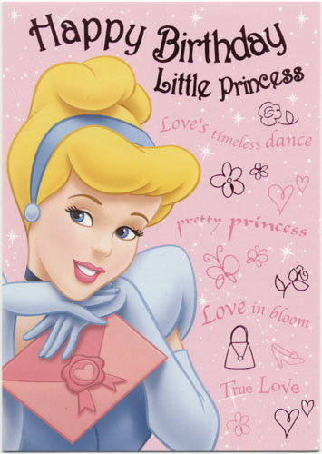 This is an image of Witty Free Printable Princess Birthday Cards
