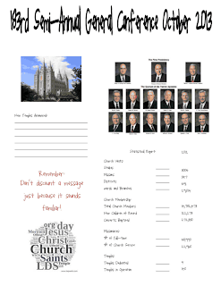 "PACKET!! It is titled, ""General Conference Packet Oct. 2013 PDF FILE"