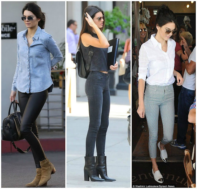 Looks com botinha da Kendall Jenner