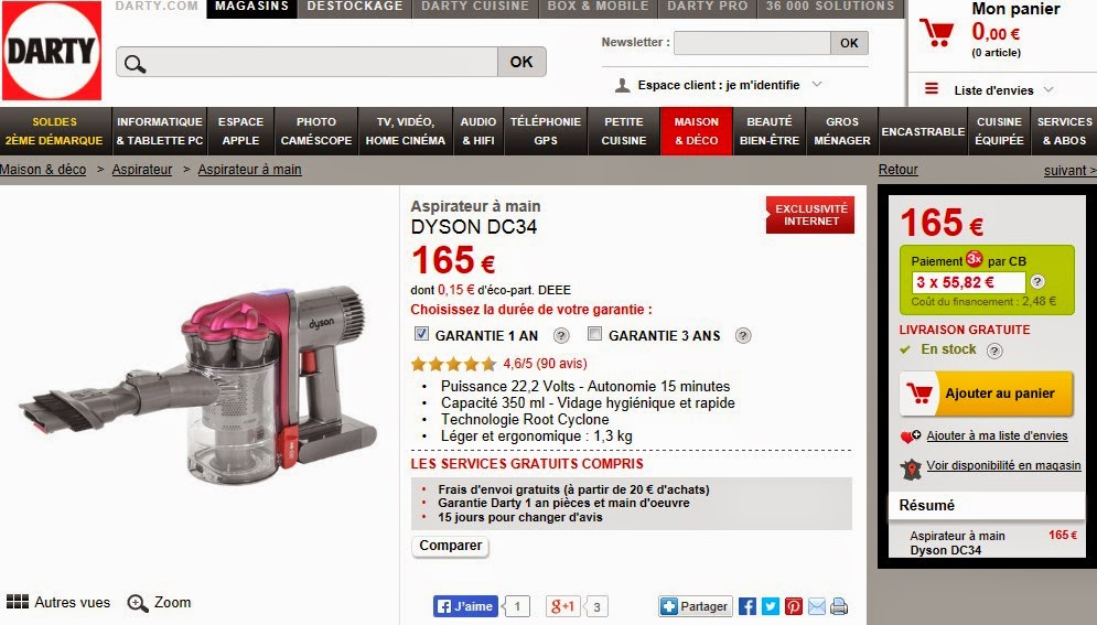 ventes privees sur internet dyson vente priv e. Black Bedroom Furniture Sets. Home Design Ideas