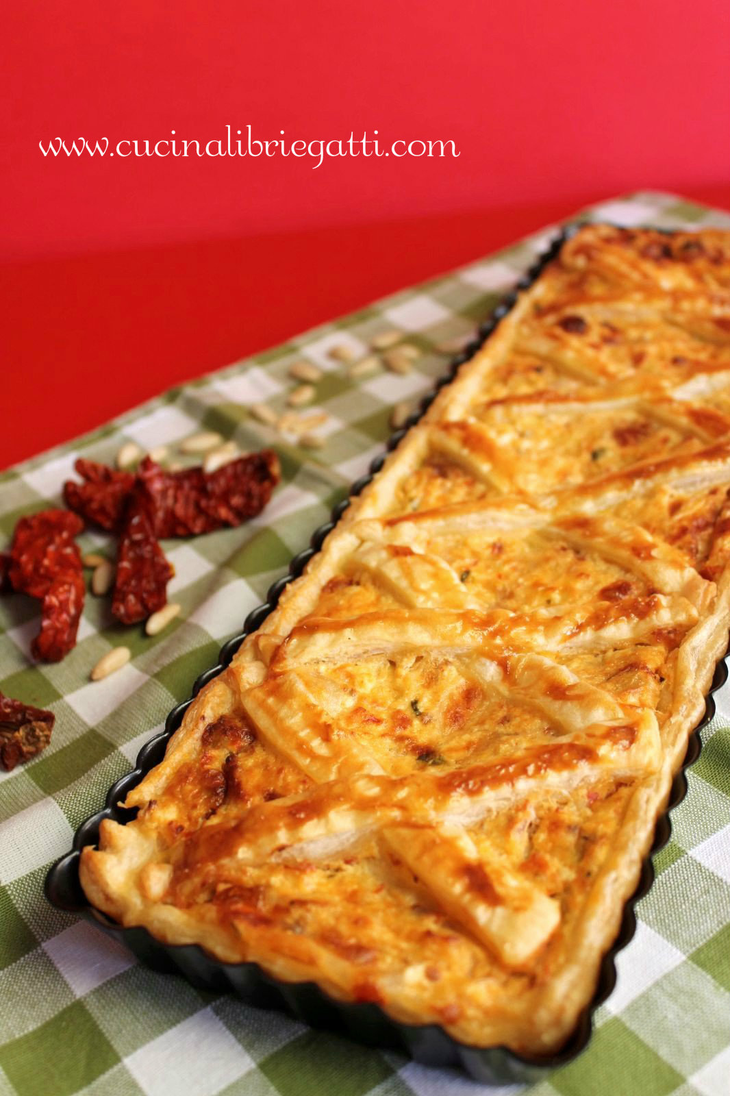 Ricetta torta salata ricotta pomodorini