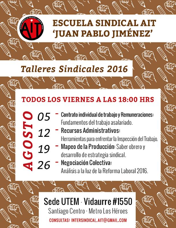 SANTIAGO:ESCUELA SINDICAL AIT, JUAN PABLO JIMENEZ
