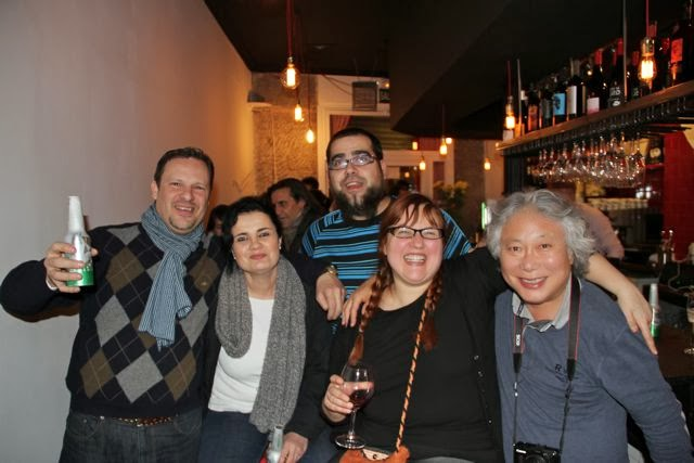 ALFREDO,Shin Yamazawa y otros amigos de El Bistró del Teatro. Blog Esteban Capdevila