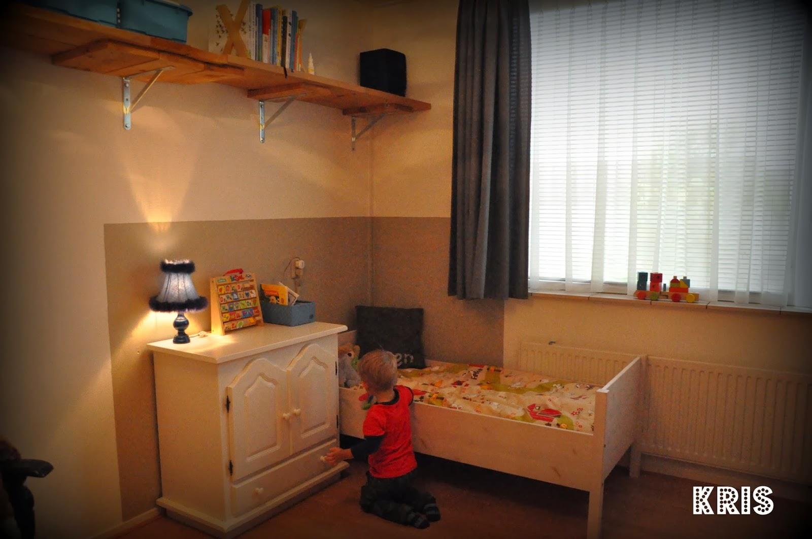 Kris wow een groot bed met een boerderij deken - Kamer gordijnen kind ...