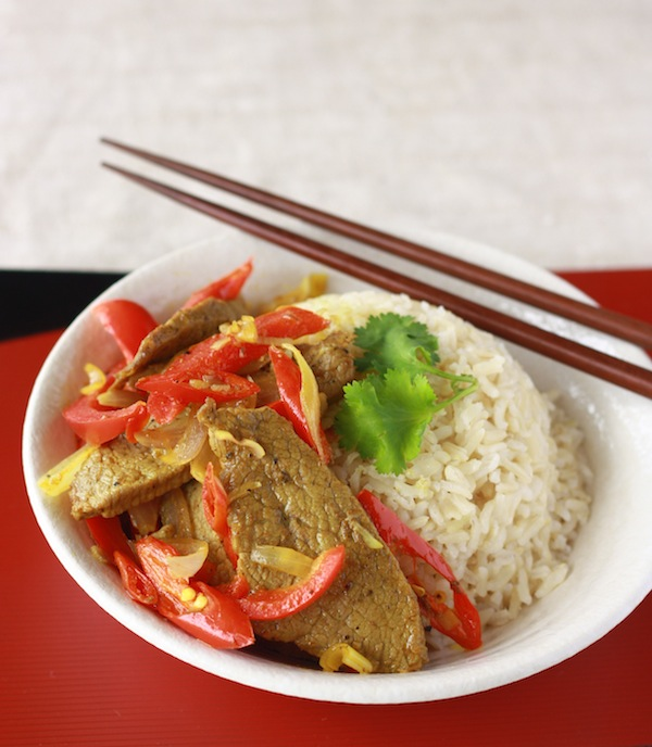 Vietnamese Beef Stir-Fry with Lemongrass & Chili recipe by SeasonWithSpice.com