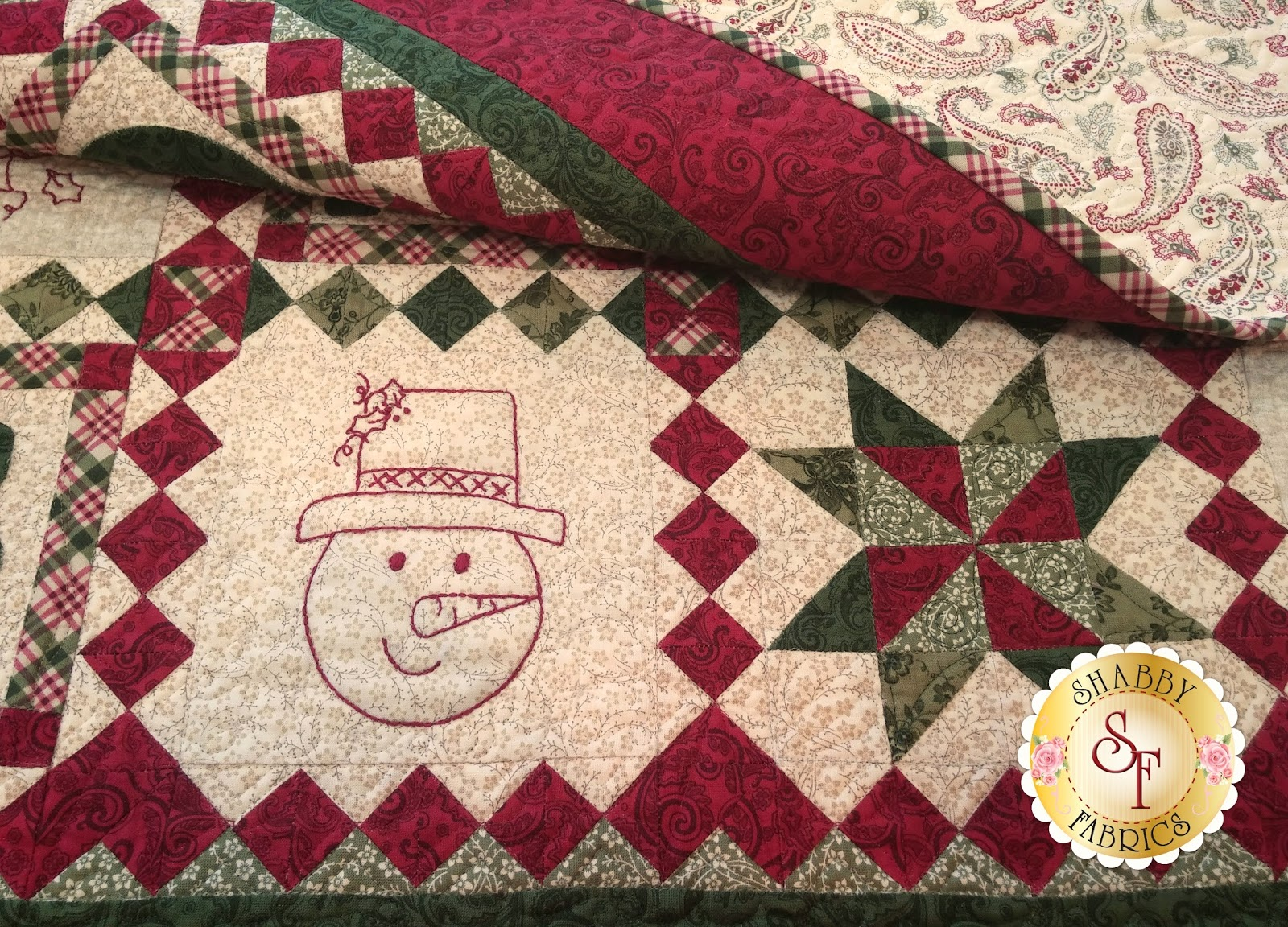 Quilt Patterns Block Of The Month : The Shabby A Quilting Blog by Shabby Fabrics: NEW Block of the Month - C is for Christmas