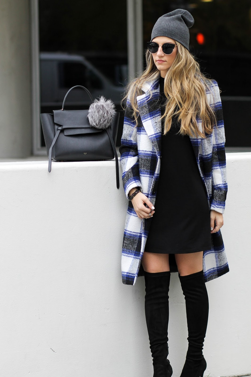 forever21 plaid coat, dressed for dreams
