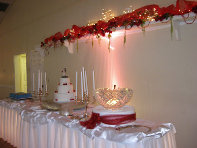 wedding reception cake table ideas