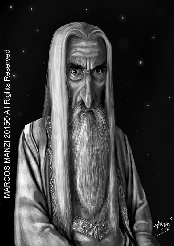 Saruman Homenaje a Christopher Lee