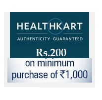 HealthKart : Health & Beauty Products Rs. 200 off on Rs. 1000 + Extra 1% Off