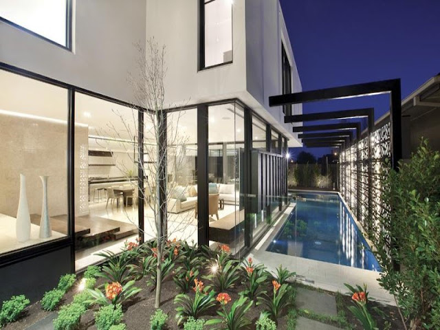 Photo of ground level and the pool at amazing dream home in Melbourne
