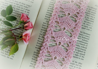 Pink Fans Bookmark Pattern, $2.45