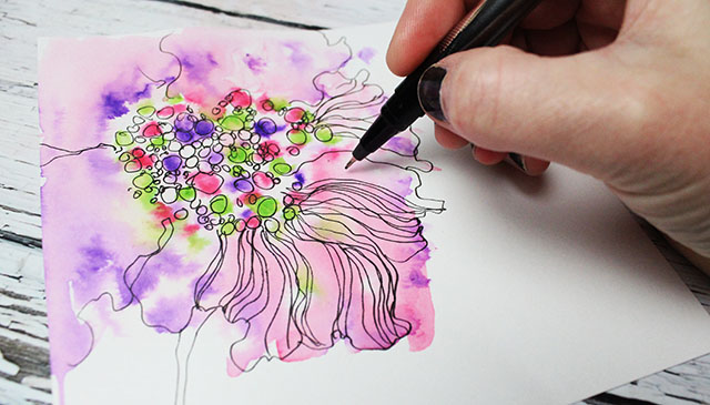 Kids markers tips and tricks for adults alisaburke for Cool watercolor tricks