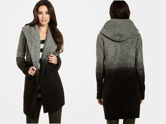 BB Dakota Joyce Ombre Coat, jacket, black and grey, wool blend, dailylook.com