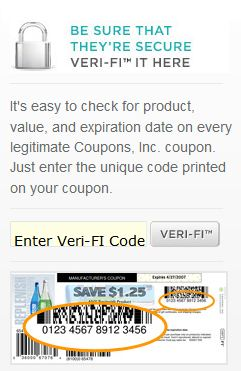 Veri fi coupons