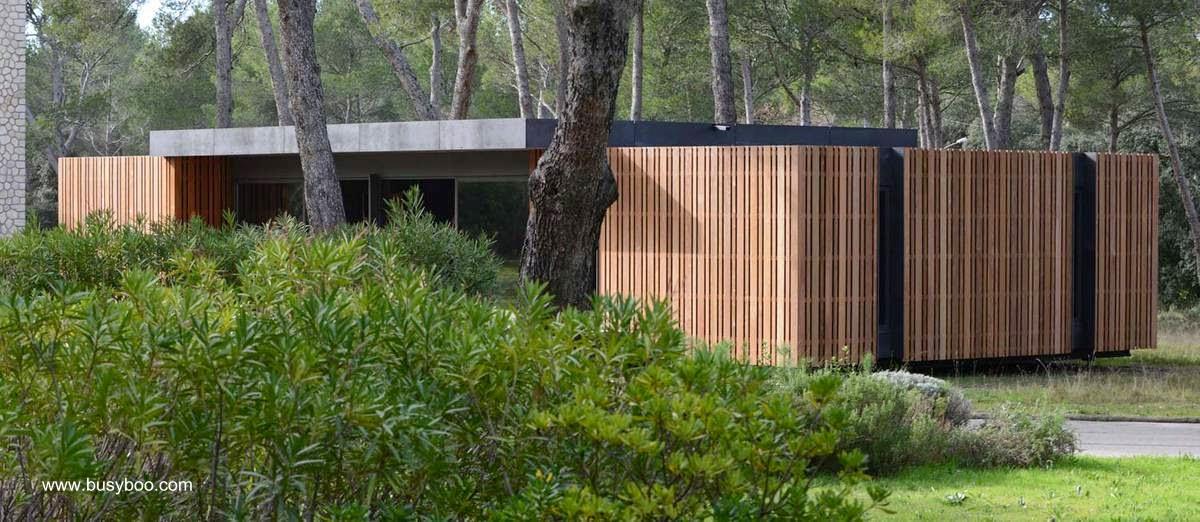 Vivienda construida de madera sistema prefabricado