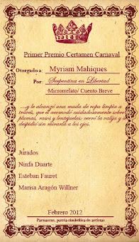 Primer Premio Certamen Carnaval en Parnassus