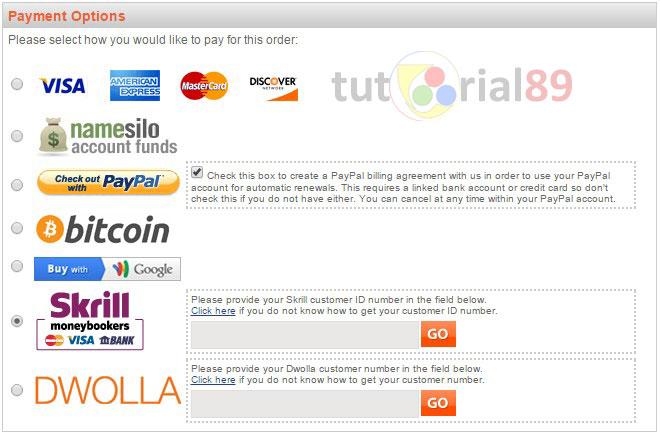 Cara mendapatkan domain TLD di NAMESILO