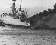 Aproveitando dos acidentes geográficos que tomavam todo o arquipélago, . guerra das malvinas navio atingido