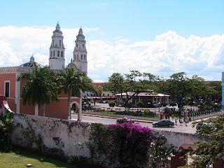 paysage du Mexique Campeche Yucatan cathedrale blog voyage photo