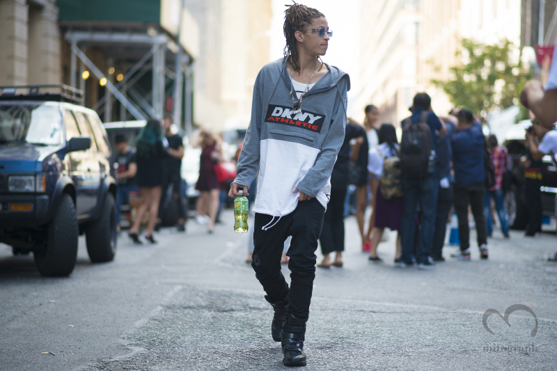 Asap Illz leaves DKNY show during New York Fashion Week 2015 Spring Summer NYFW