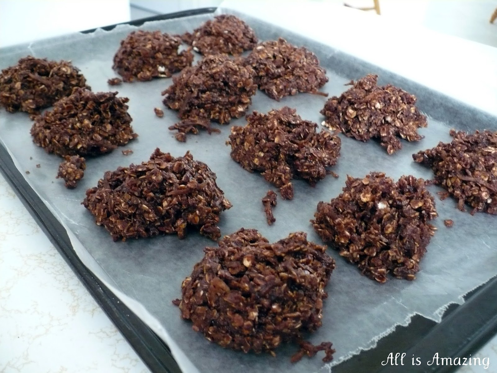 All is Amazing: No Bake Chocolate Oatmeal Cookies