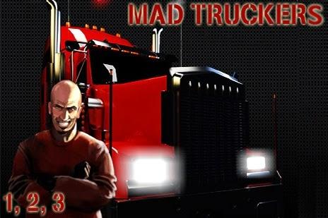 تحميل ، تنزيل ، لعبة ، فلاش ، اون لاين ، مجانا ، لعبة الشاحنة المقاتلة ، Mad Truckers
