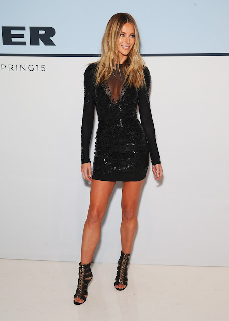 Supermodel @ Jennifer Hawkins - Myer Spring 2015 Fashion Launch in Sydney