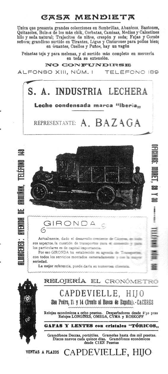 Guía Comercial Cáceres 1927