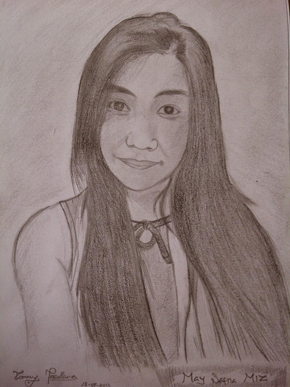 Berikut adalah gambar lukisan pensil wajah manusia :D ,saya masih ...
