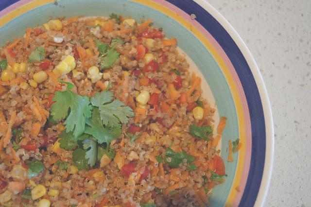 DSC06358 edited 1 - Bright & happy quinoa salad
