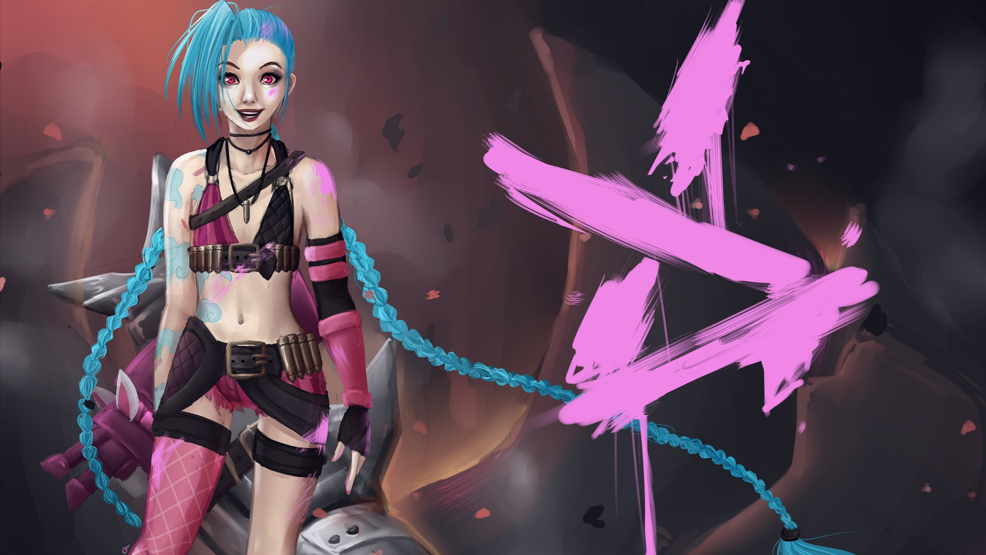 jinx lol wallpaper hd