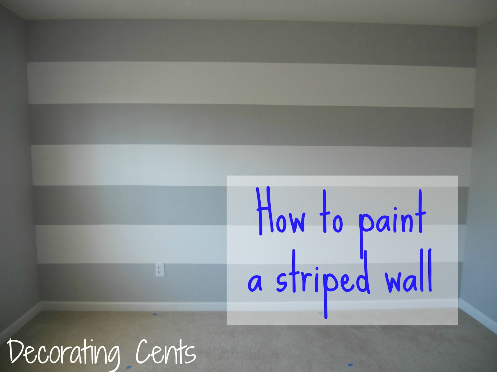Decorating cents painting a striped wall for Painting stripes on walls in kids room