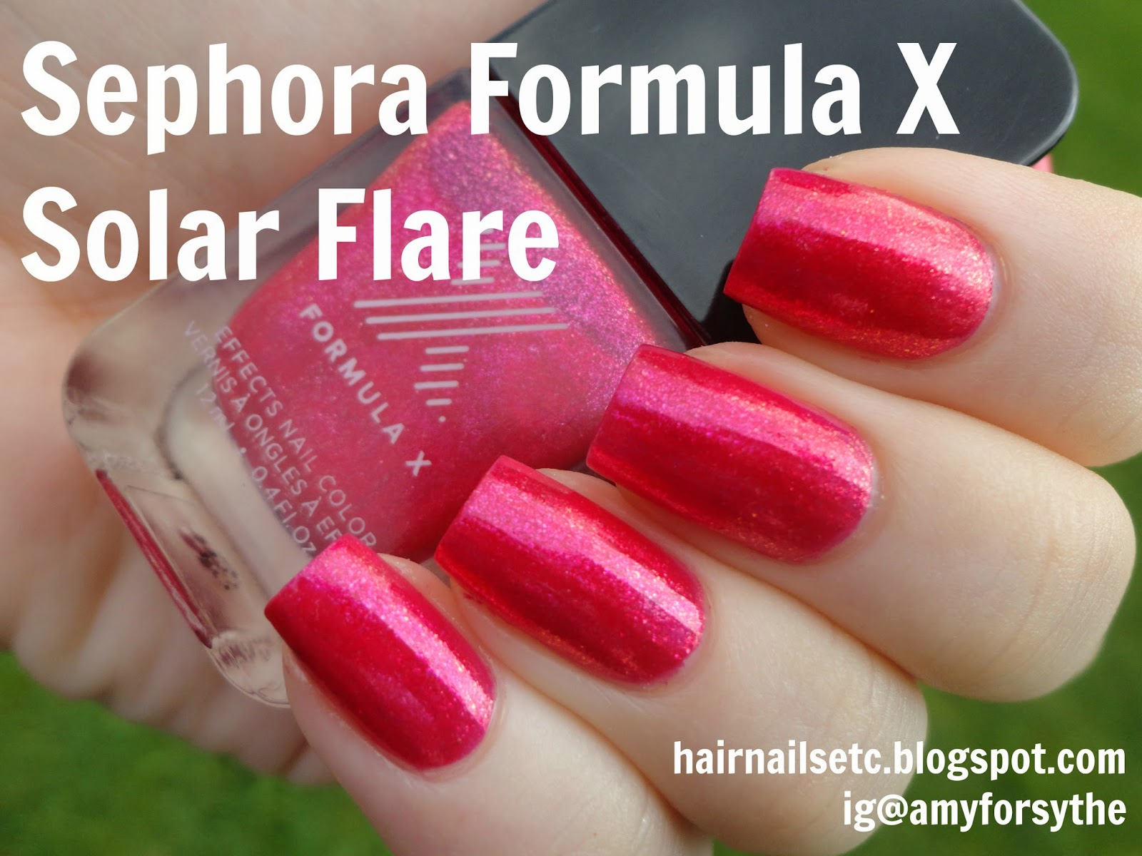 Sephora Formula X Nail Polish in Solar Flare from Liquid Crystals collection