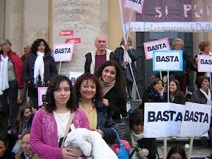 Se non ora quando? Renata, Samina, Zarina alla manifestazione delle donne a Roma il 13 feb. 2011